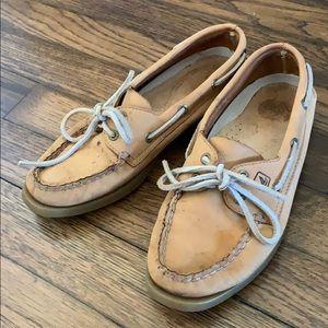 Sperrys 6m tan boat shoe leather